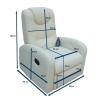 Sofa relax branco com RC