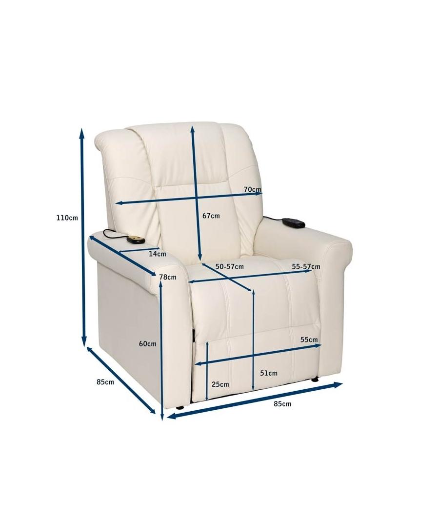 Sofa elevatorio for Medidas de sillones