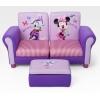 Sofa dois lugares minnie mouse com puff