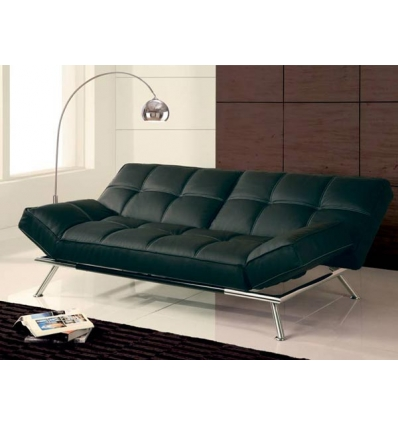 Sofa cama couro