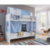 Beliche convertível cortinas azul