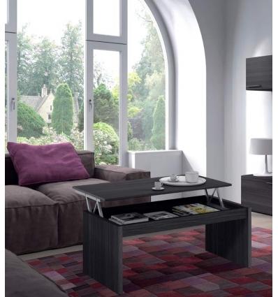 Mesa de centro elevável cinza