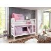 Beliche com cama ninho lilás rosa