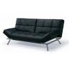 Sofa cama couro preto